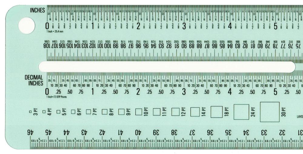 Schaedler 18 E2 80 B3 Combo D 18 Imp Inch Metric Decimal Pica Ruler